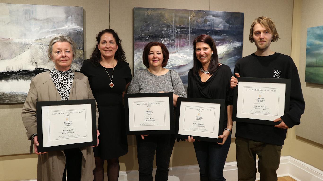 Lauréats 2019 du Concours d'œuvres d'art de Diffusion culturelle de Lévis
